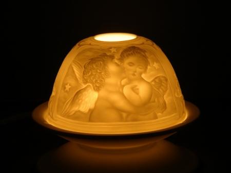 Kerzenhalter Baby Engel